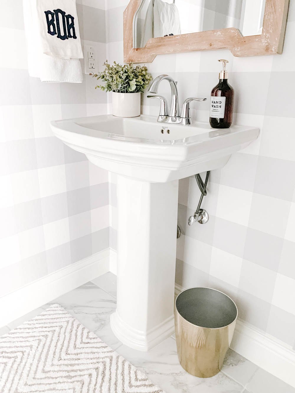 Modern Farmhouse Powder Bathroom Reveal A Blissful Nest