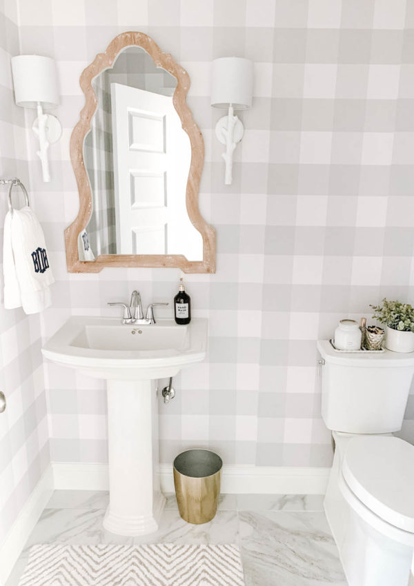 Modern Farmhouse Powder Bathroom Reveal