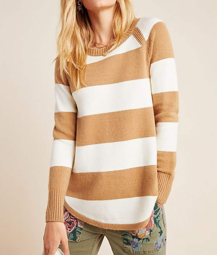 This striped sweater is cozy and perfect for a fall outfit. #ABlissfulNest