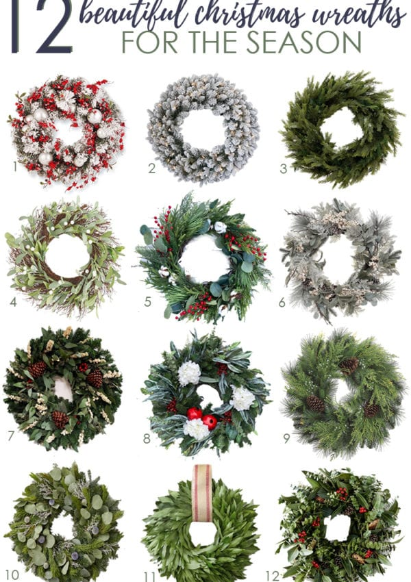 12 Beautiful Christmas Wreaths for the Season