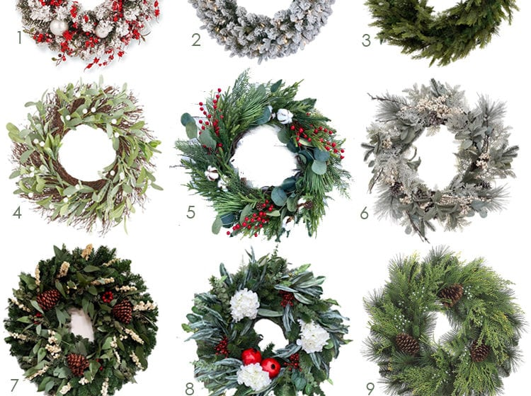 These Christmas wreaths are perfect for your front door, kitchen hood and your windows! So many pretty options and all price points. #ABlissfulNest #christmasdecor #christmasdecorating