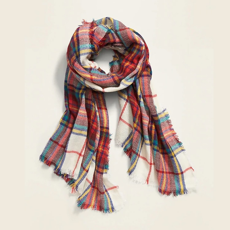 This plaid scarf is a must have for the colder months AND makes for an awesome gift! #ABlissfulNest
