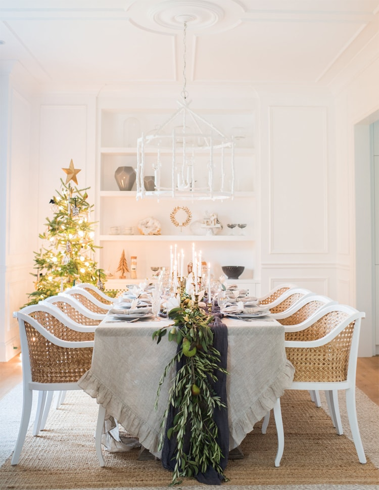 This stunning tablescape by Monika Hibbs is perfect for the holiday season! #ABlissfulNest