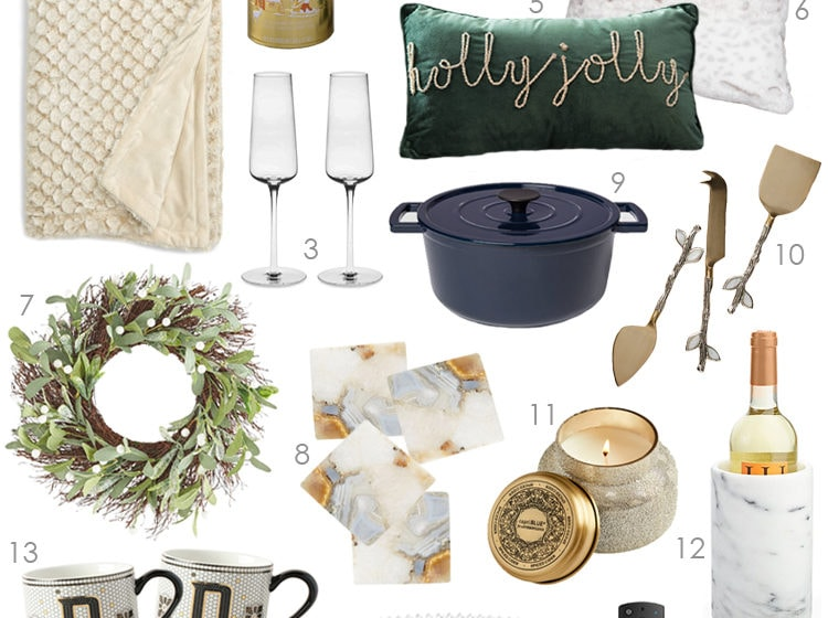 A comprehensive selection of gift ideas for hostess gist ideas for the holiday season. #ABlissfulNest #giftideas #christmasgift