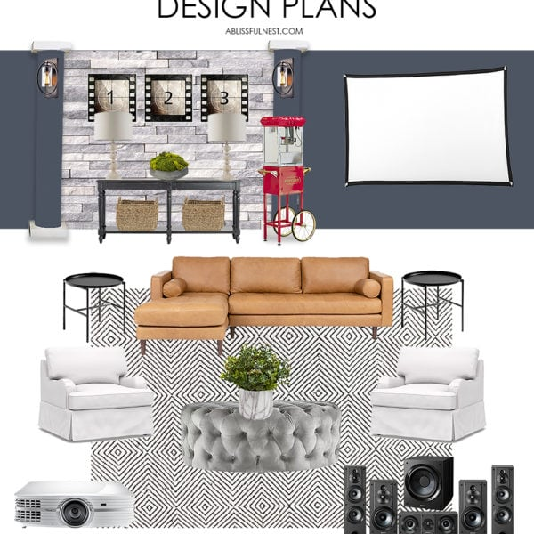 Tips To Create a Family-Friendly Media Room + Design Board
