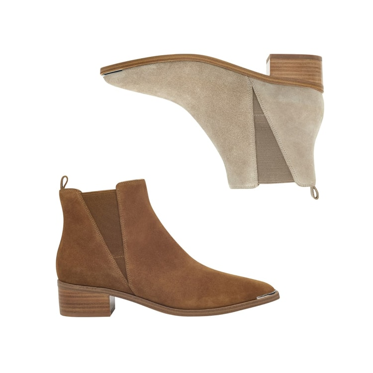 These suede pointy-toe booties will elevate any fall or winter look! #ABlissfulNest