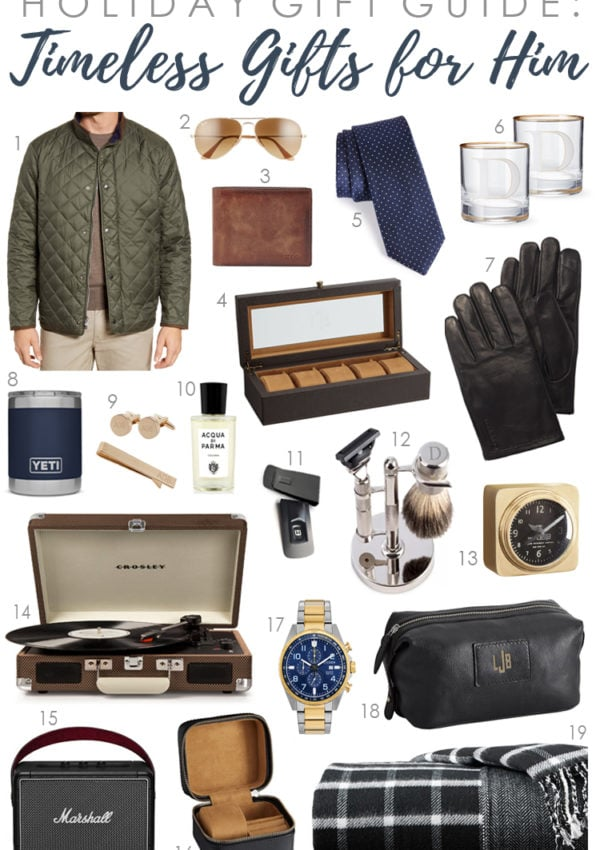 Holiday Gift Guide 2019: Timeless Gifts for Him