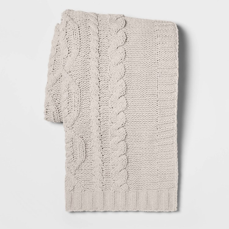 This cozy, chenille throw blanket is on sale and so beautiful!