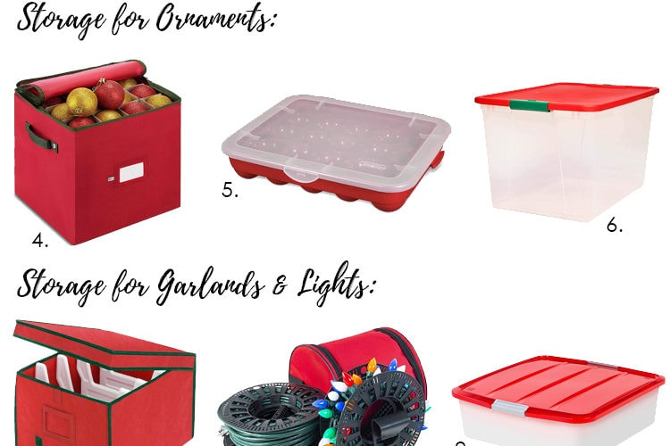 Organize and get all your Christmas decorations in order with all of these storage solutions. #ABlissfulNest #christmasstorage #christmasdecor