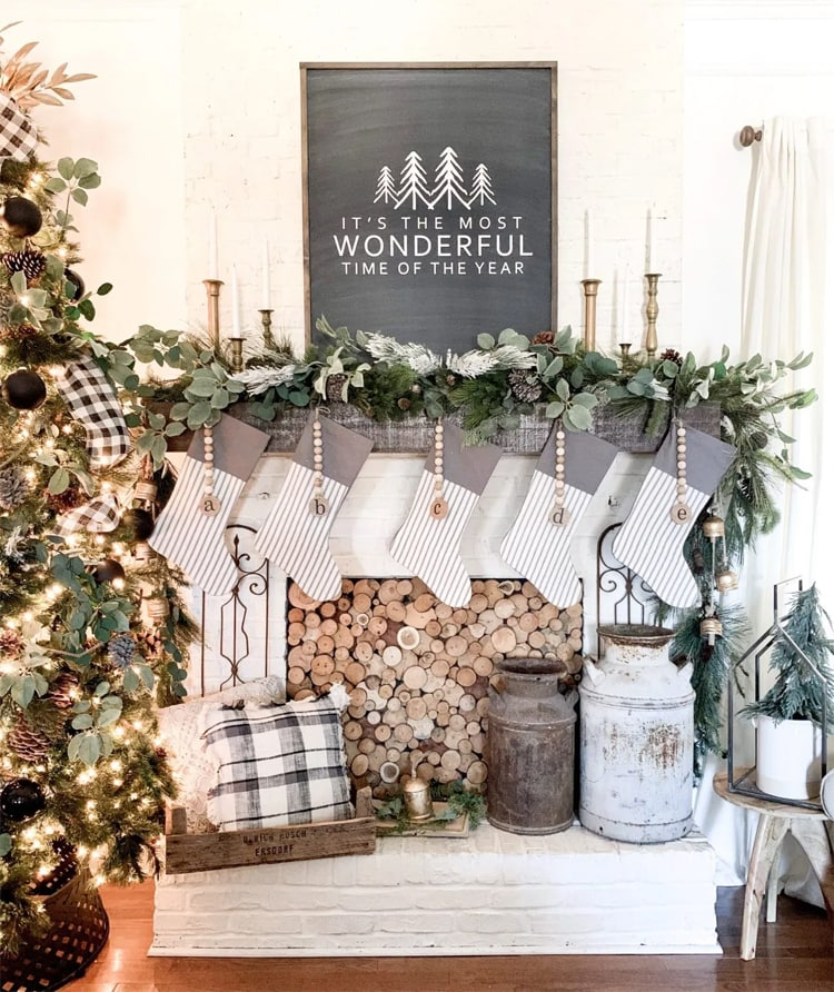 The most beautiful Christmas mantel by Carissa from Bless this Nest!