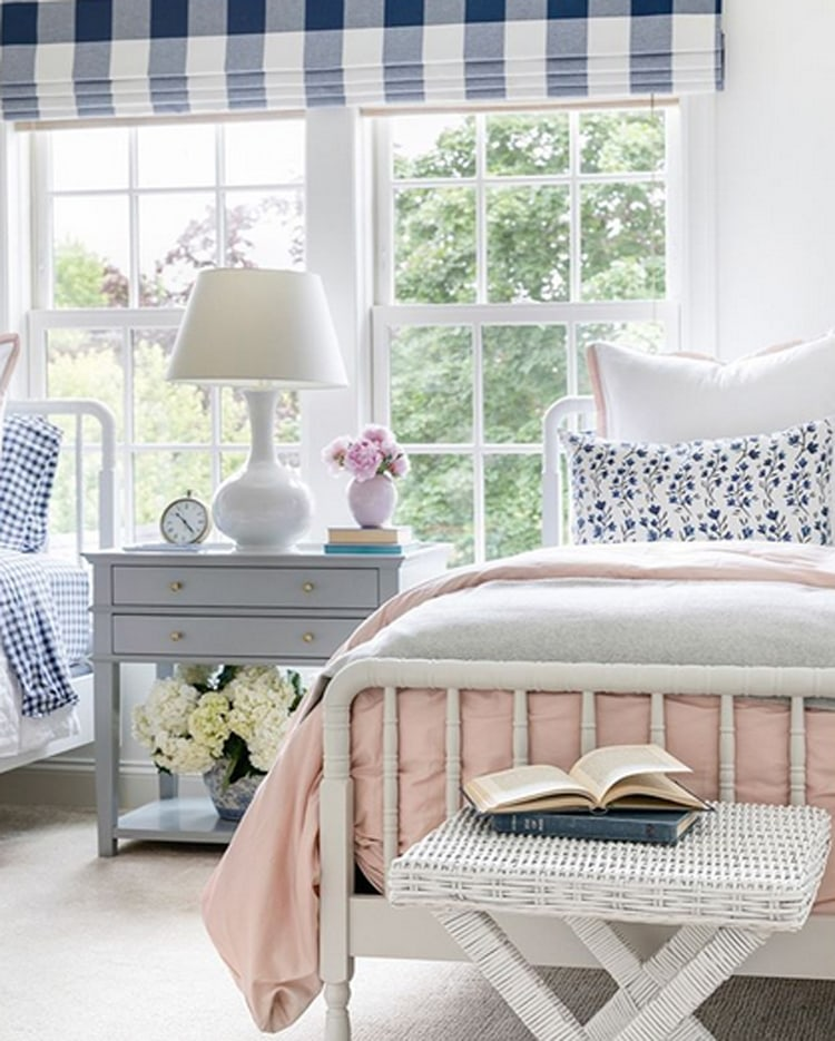 This beautiful girls' room from Bria Hammel Interiors is giving me all of the spring time vibes! #ABlissfulNest
