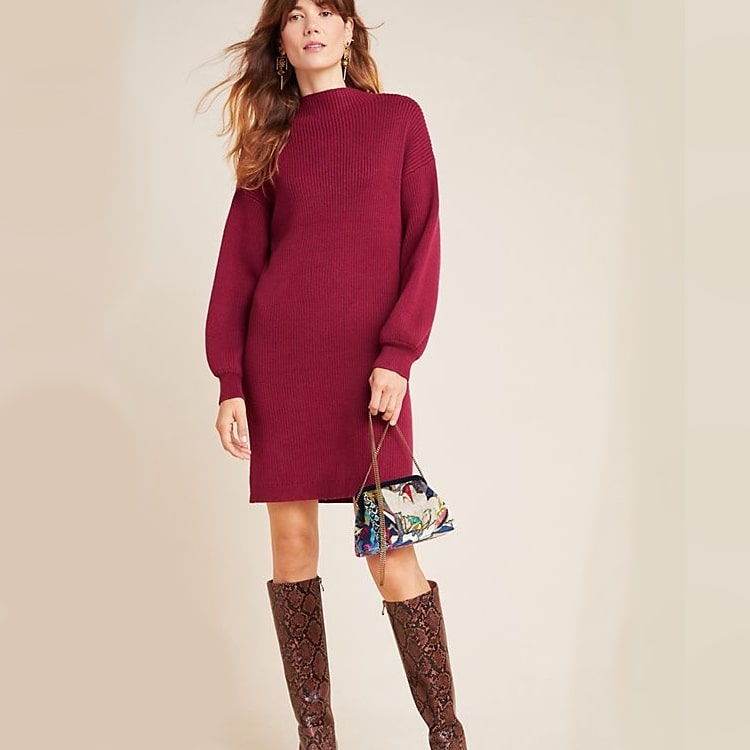 This beautiful sweater dress is perfect for any event!