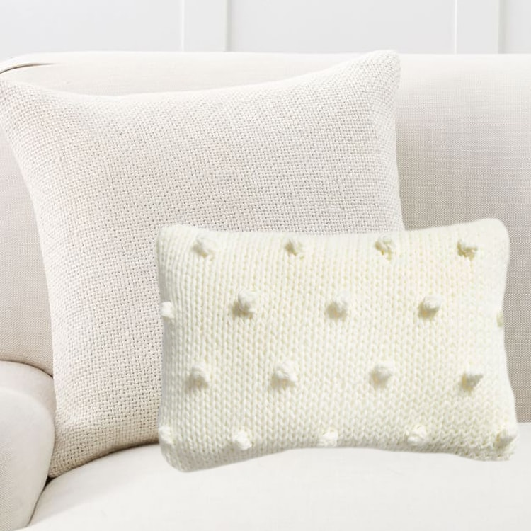 This neutral pillow combo is so classic and matches all of your decor. #ABlissfulNest