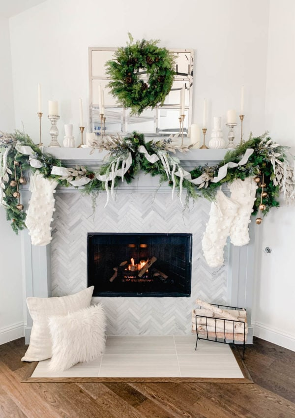 How to Hang A Holiday Garland Without Damaging Your Walls or Mantle