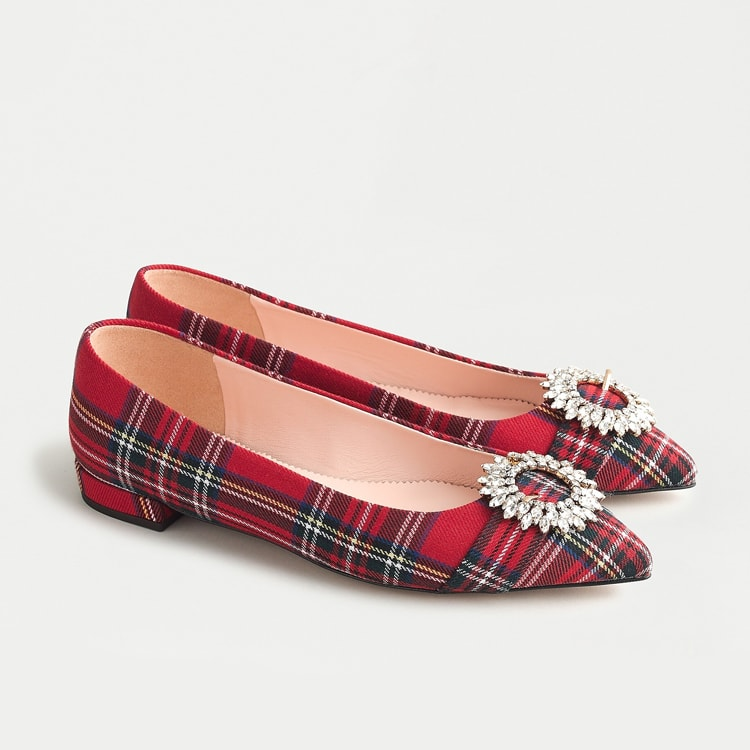 The prettiest, most festive tartan flats to wear with all of your holiday outfits! #ABlissfulNest