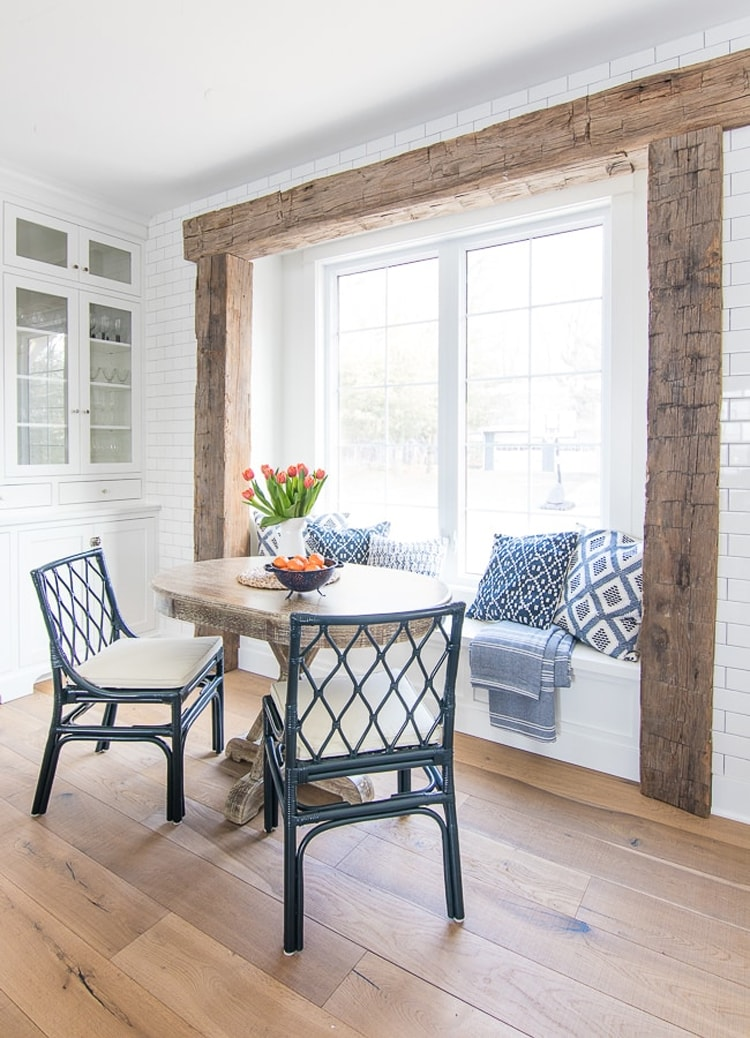 The most beautiful breakfast nook from The Lily Pad Cottage!