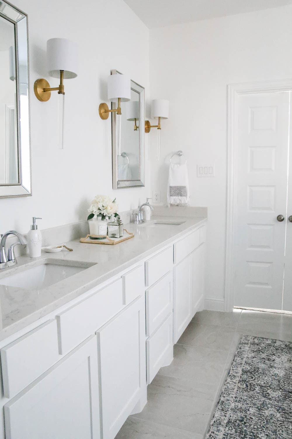 Add affordable decorative layers to your bathroom to refresh the space with these amazing finds from At Home Stores! #AtHomeStores #AtHomeFinds #ABlissfulNest #ad