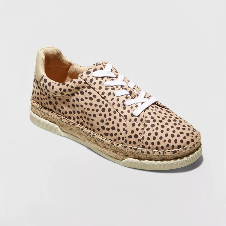 I love these cute leopard printed espadrille sneakers, they're under $40! #ABlissfulNest