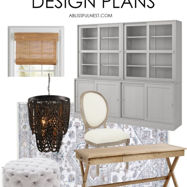 Home Office Ideas on A Budget + Design Plans