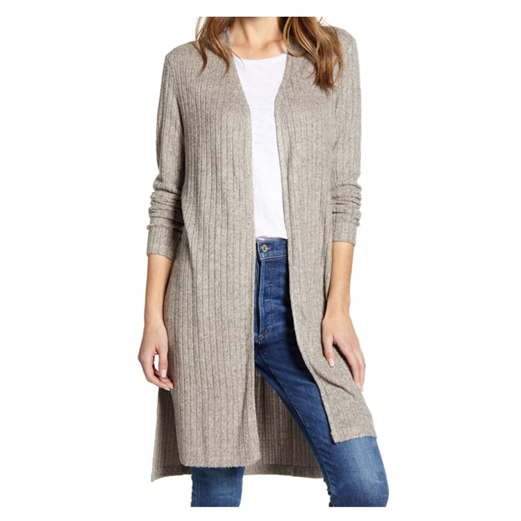 This ribbed cardigan is so versatile and it'll transition into the warmer weather too - great for so many seasons! #ABlissfulNest