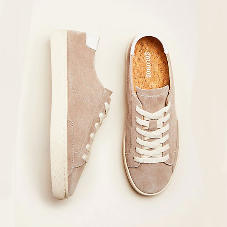 These suede sneakers are SO cute and perfect for the winter and spring months alike! #ABlissfulNest