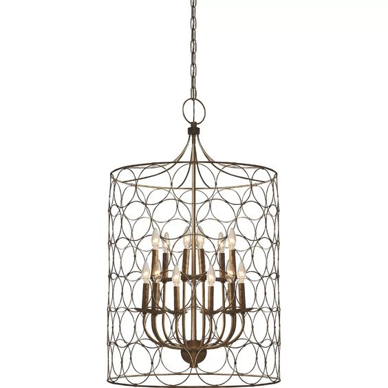Such a beautiful cage lantern for an entryway.