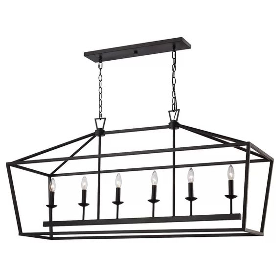 This linear lantern light is perfect for a breakfast room or over a dining space.