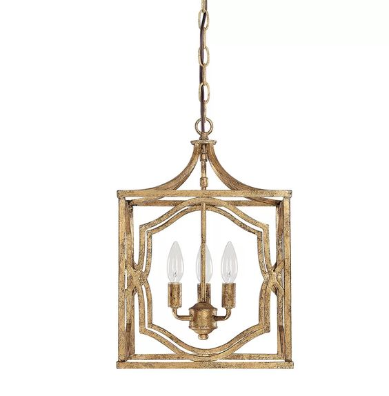 Such a beautiful finish on this lantern and perfect for a transitional space.