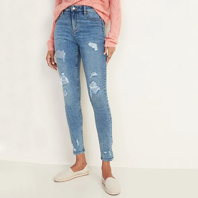 This pair of high-waisted denim is perfect for spring, they're so affordable too! #ABlissfulNest