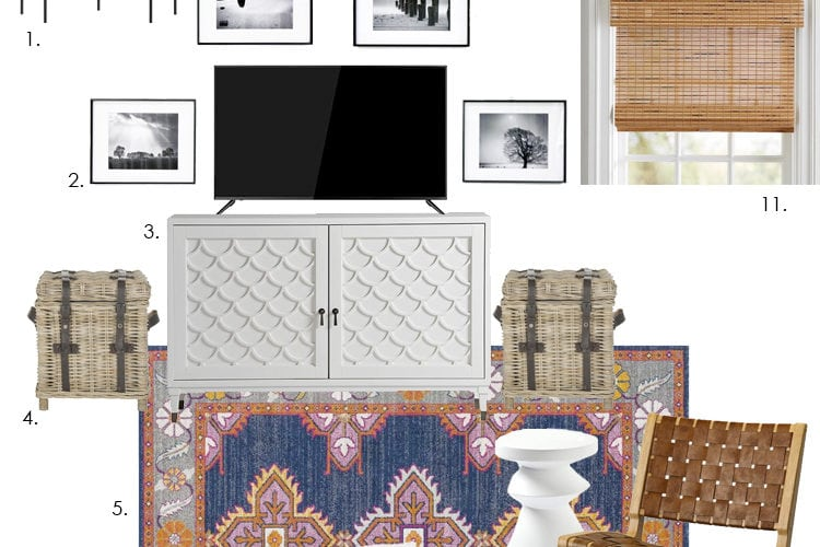 Sharing our bonus room ideas for a family and my design plans for our own game room, including furniture, lighting, accessories, and more for the space! Also highlighting my favorite rug sources. #ABlissfulNest #gameroom #bonusroom #mediaroom