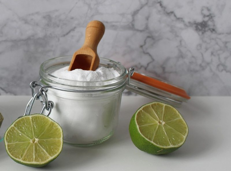 diy scouring powder with freshly cut limes