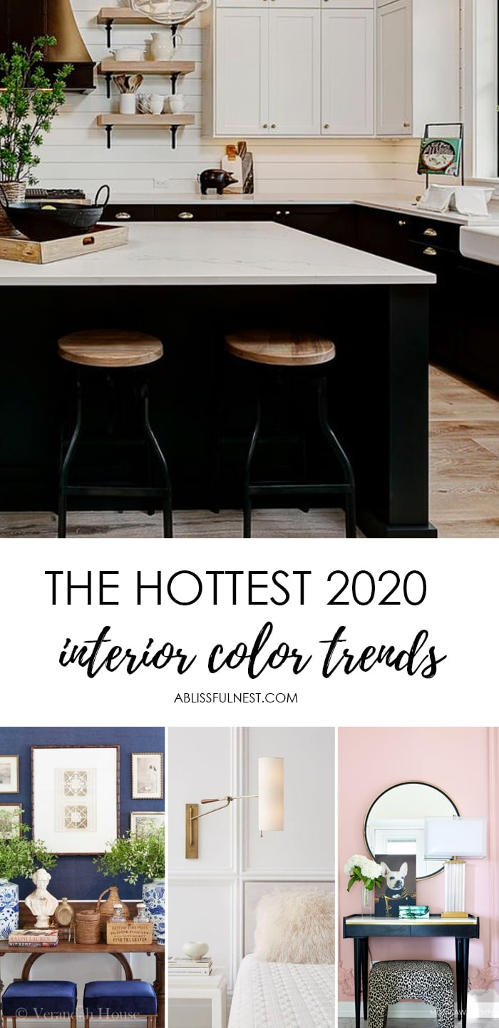 All the BEST colors to use in your home for 2020 and how to incorporate them into your existing home decor. #ABlissfulNest