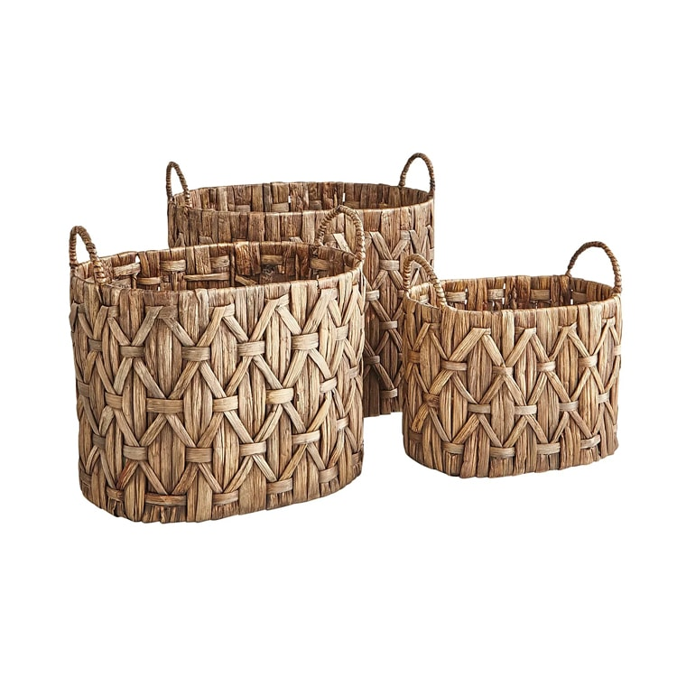 These Water Hyacinth Baskets are great for so many things around the house and look so pretty too! #ABlissfulNest