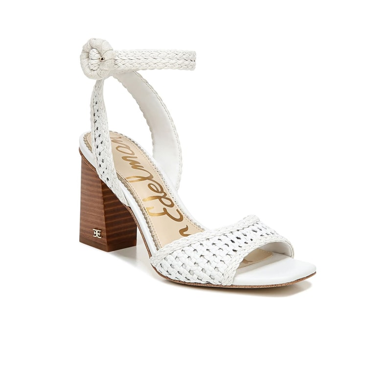 These adorable white leather block heels are perfect for spring! #ABlissfulNest