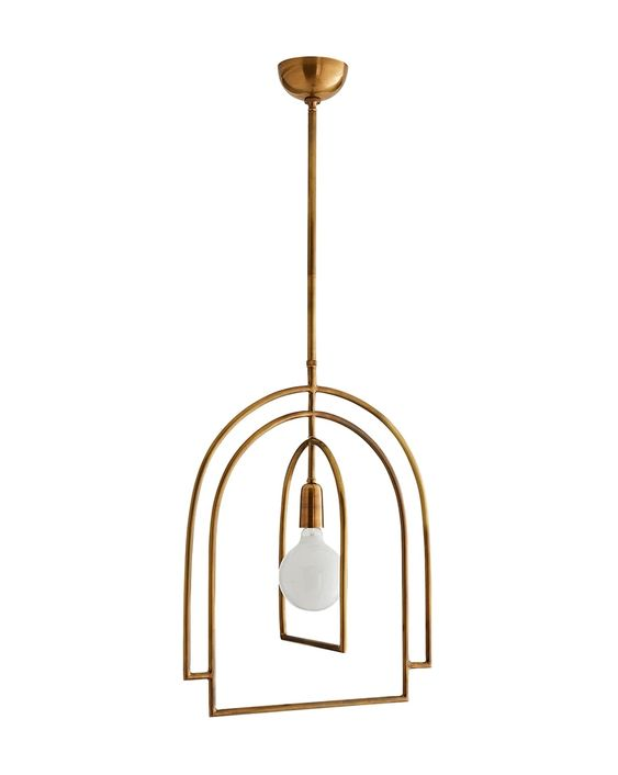 Such a pretty pendant light for a transitional home.