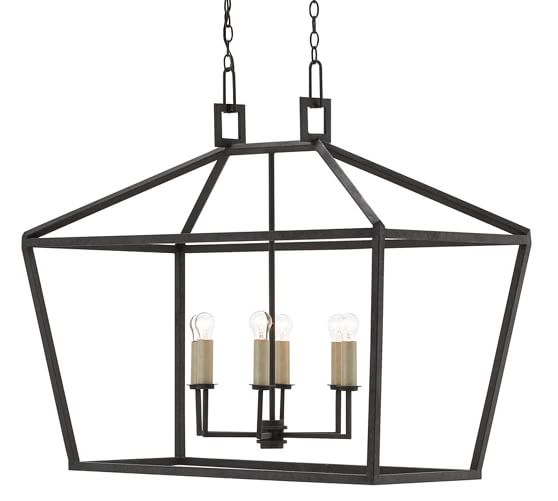This small black lantern would be perfect in a breakfast nook.