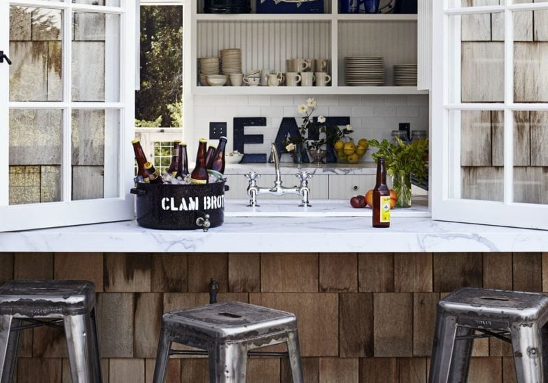 extra large window for indoor outdoor kitchen bar