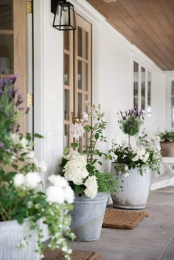 tall planters for porch or patios