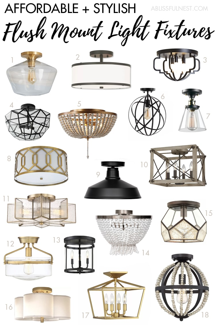 Picture of: Stylish Affordable Flush Mount Light Fixtures A Blissful Nest