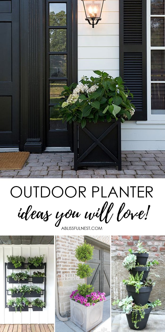 Beautiful front porch planter ideas to instantly up your curb appeal! #ABlissfulNest #gardening #curbappeal