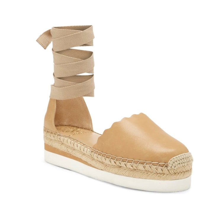 These platform espadrilles are the prettiest spring shoe! #ABlissfulNest