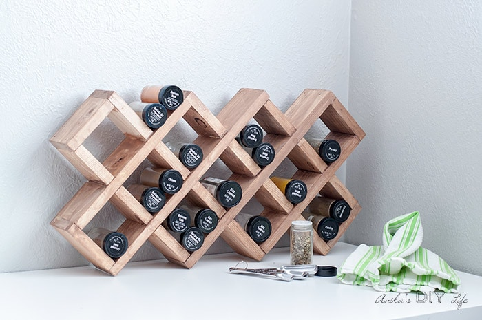 honeycomb spice storage rack
