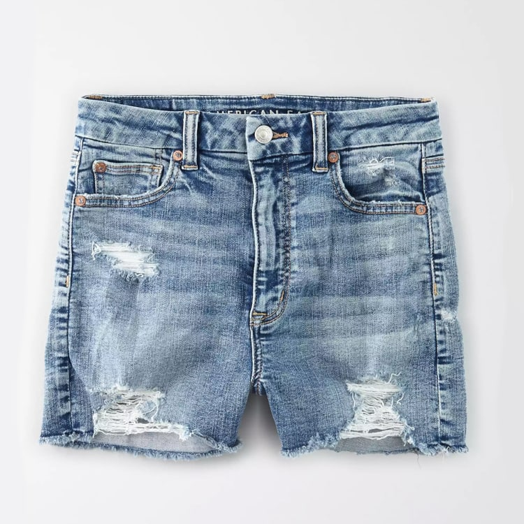 The perfect pair of high waisted denim shorts under $50! #ABlissfulNest