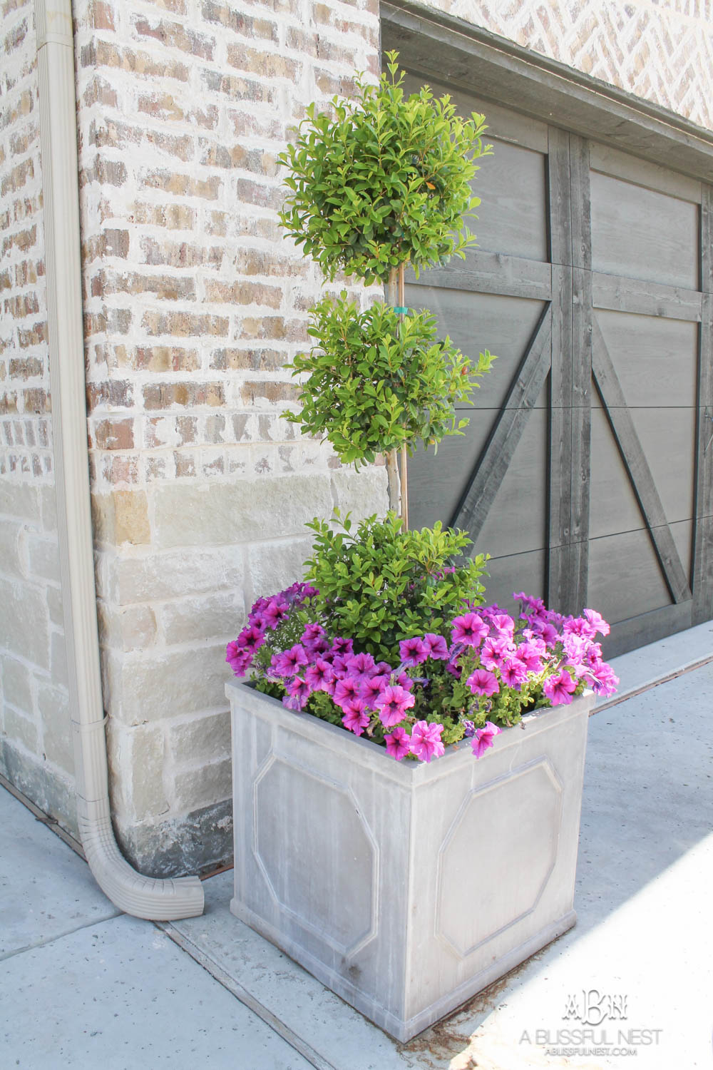 front porch outside planter ideas