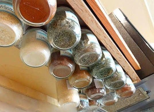 hanging spice jars