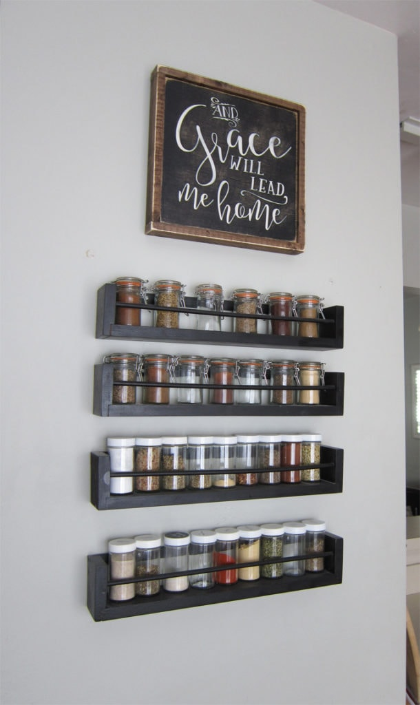 wall mounted spice rack