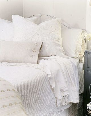 different patterns and textures add interest when decorating with white