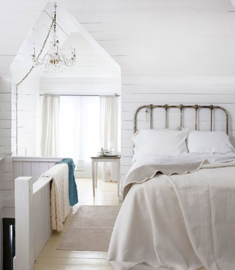 use white to bring out textures in decorating