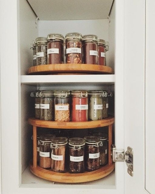 small space spice storage