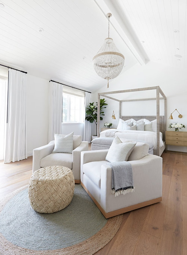 This gorgeous, coastal modern bedroom from Pure Salt Interiors is so stunning!